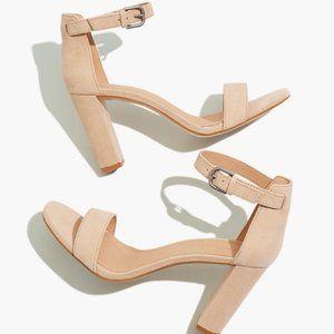New Madewell Brooke Ankle-Strap Sandal Heels
